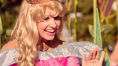 Aurora | Soundsational (chris.alcoran) Tags: street sleeping white snow beauty st canon mouse photography princess disneyland main sigma disney mickey parade seven aurora belle beast cinderella float 70300mm rapunzel princesses tangled mickeys dwarfs soundsational