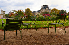 Beautiful view of Louvre palace, Tuileries garden side, Paris, France (Dragos Cosmin- Getty Images Artist) Tags: park city travel flowers vacation sky panorama paris france building tree art tourism monument beautiful museum architecture clouds facade garden french outside spring ancient europe european exterior view blossom outdoor louvre landmark palace medieval historic clear bloom destination historical pavilion tuileries sight parisian attraction external touristic