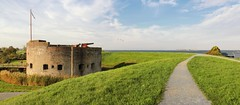 The Westbatterij tower fort was part of the Defence Line of Amsterdam (Bn) Tags: autumn west tower history nature water netherlands dutch amsterdam island boat topf50 boulevard ship fort snake dam herfst battery natuur route swans swamp cannon kanon recrea