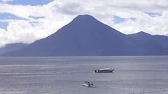 video: Lake Atitlan: beautiful (sftrajan) Tags: music lake clouds boats lago volcano video guatemala lac panajachel volcan vulkan marimba volcn lagodeatitln  lakeatitln