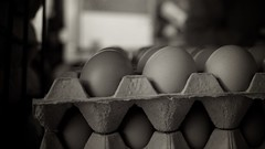 Eggs Market (BradonMcCaughey) Tags: blackandwhite bw sepia contrast market grain eggs