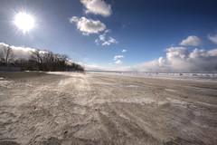 Port Dalhousie Winter (Geddie Advertising) Tags: winter beach pier stcatharines lakeontario portdalhousie