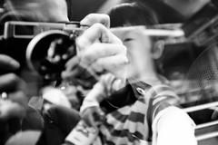 Say Hello. (MichelleSimonJadaJana) Tags: street red bw white black japan digital 35mm photography tokyo fuji documentary lifestyle snaps  fujifilm  f2 fujinon 23mm vsco x100s vision:mountain=0568 vision:outdoor=0501