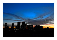 Sunset in West LA (Eddie Hales) Tags: california blue sunset orange buildings la
