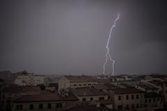 Thunder Storm over Livorno (iaso) Tags: longexposure storm exposure filter nd thunderstorm lightning livorno thunder badweather chaser temporale lunga esposizione thunderbolt tempesta lighttrail ndfilter fulmine longexposition thunderstruck saetta thunderlight