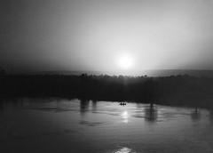 NILO RIVER (ESPACIOMILCIENTO) Tags: sunset sky blancoynegro river noche egypt sombra cielo luxor palmera reflejos nica nilo espaciomilciento