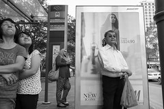 untitled (asaresult) Tags: street city people bus photography singapore waiting fuji streetphotography stop cbd x20 2014