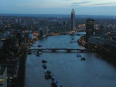 River Thames  with Lambeth Bridge andVauxhall Bridge (Blue Taiga) Tags: thames dusk londoneye