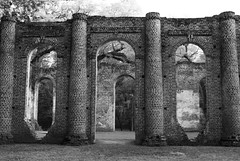 Old Sheldon Church Ruins (DFChurch) Tags: blackandwhite history sc ruins south carolina grayscale lowcountry oldsheldonchurch