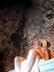 Golden Buddha of Candi Mendut Temple (stardex) Tags: heritage statue indonesia java ancient buddha buddhist religion culture unesco magelang candimendut stardex