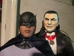 Count Dracula and 1966 Batman 9272 (Brechtbug) Tags: show from new york city nyc blue man black hot west adam dusty film television monster yellow dark comics movie toy toys grey book dc costume tv 60s comedy do comic action gray bat battle 1966 dracula national figure batman knight about monsters universal 1960s transylvania bela sideshow count lugosi detective 2014