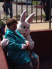 "Grandma Montopoli with the Easter Bunny • <a style=""font-size:0.8em;"" href=""http://www.flickr.com/photos/109120354@N07/13992444772/"" target=""_blank"">View on Flickr</a>"