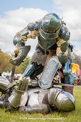 [2014-04-19@15.13.11a] (Untempered Photography) Tags: history costume fight helmet battle medieval weapon sword knight shield combat armour reenactment champions skirmish combatant chainmail canonef50mmf14 perioddress buckler platearmour gambeson mailarmour untemperedeye canoneos5dmkiii untemperedeyephotography glastonburymedievalfayre2014