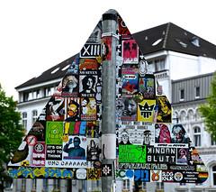 HH-Sticker 1468 (cmdpirx) Tags: street urban art public painting graffiti stencil nikon sticker artist post mail 7100 d space raum kunst strasse glue hamburg vinyl crew trading marker hh aerosol aufkleber kleber paket künstler öffentlicher