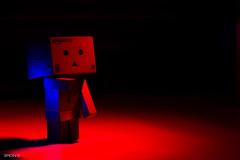 Lightpainted Danbo (SimonR91) Tags: nightphotography blue red lightpainting night dark lights amazon nikon nikkorlens danbo sb800 nikon85mmf18 amazonjp danboard ledlenser