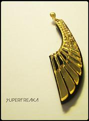 BRINCO WINGS (SuperFreaka) Tags: africa wings afro dourado horus olho asa swag brincos egito piramide acrilico diferentes etnico bijuterias streetstyle cortealaser