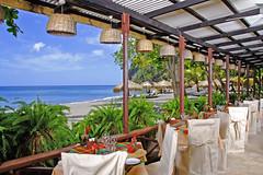Restaurant (saintluciatourism) Tags: beach reastaurant tableset ansechastanet