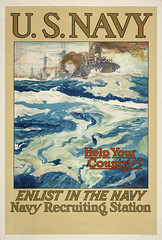 "U.S. Navy recruiting poster from World War I. • <a style=""font-size:0.8em;"" href=""http://www.flickr.com/photos/81723459@N04/16421930696/"" target=""_blank"">View on Flickr</a>"