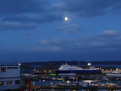 Whole of the moon (Coco of Jersey) Tags: lines st ferry boat marine ship jersey portsmouth condor ci weymouth freight guernsey channel poole roro malo austal incat
