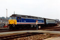 47702 Exeter St Davids 28.12.91 (jonf45 - 2.5 million views-Thank you) Tags: st br rail trains class exeter british network southeast railways 47 davids nse 47702