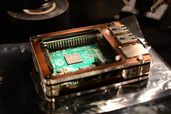 Raspberry PI in a C4 Labs Zebra Case (Tydence) Tags: walnut case pi electronics labs zebra raspberry c4