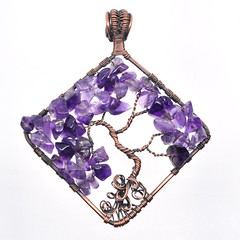 Amethyst Tree of Life (messaroo) Tags: austin handmade jewelry copper amethyst treeoflife copperwire atx wirewrapping wirewrapped wirewrap oxidizedcopper copperjewelry wirewrappedjewelry wireweaving thebeadstash jessicablackwell