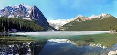 Lake Louise, Banff National Park, Alberta, Canada - psi(5)92-114 (photos by Bob V) Tags: panorama lake mountains rockies banff rockymountains lakelouise mountainlake banffnationalpark canadianrockies banffalberta banffpark banffalbertacanada mountainpanorama