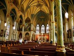Zu Christi Himmelfahrt ein Blick in die Cathedral of St John the Baptist in Savannah (sabine1955) Tags: usa church kirche savannah cathedrale cathedralofstjohnthebaptist