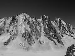 The North Face. Faces Nord !... (Claude Jenkins) Tags: ski france olympus glacier northface chamonix montblanc hautesavoie em1 argentire sracs pentesraides