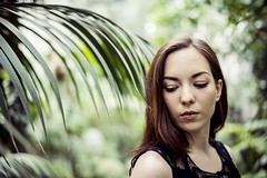 (Esther'90) Tags: portrait woman plants house green leaves fashion garden botanical spring bokeh fashionphotography may greenhouse portraiture leafs botanicalgarden portraitphotography fashionportrait womanportrait portraitwoman
