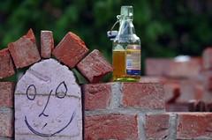 Saturday evening (Knarfs1) Tags: building beer garden gardening bier contruction arbeit garten bau mauer feierabend