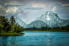 Oxbow Bend (donnieking1811) Tags: mountains skyline clouds landscape rivers wyoming tetons oxbow