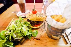 Gourmet burger (A. Wee) Tags: france restaurant burger valthorens foiegras lamaison