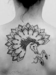 Magdalena_2 (farbwerth) Tags: horse black tattoo ink back mandala tat pferd rcken steiermark tanja werth frstenfeld ttowierung dotwork farbwerth catybee