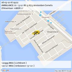AMBULANCE: A1 13121 Rit 51673 Amsterdam Cornelis Zillesenlaan 1086ZK 2~ (09:22) (IJburg112) Tags: amsterdam 112 p2000 ijburg112