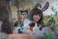 Alice in Wonderland (La Sonrisa Del Gato) Tags: colour film glass photoshop looking photoshoot cheshire time tea alice creative dream lewis queen fantasy hearth through mad wonderland hater carrol inpirated
