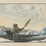 An Inuk from Labrador in his canoe drawn from nature / Un Inuit du Labrador dans son canot, dessiné d'après nature thumbnail