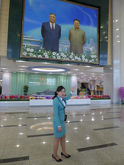 Portrait of the Leaders at the Science and Technology Center (Daniel Brennwald) Tags: kimjongil northkorea pyongyang dprk kimilsung nordkorea scienceandtechnologycenter