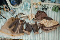 Caramel Machiatto (Micheescloset) Tags: fashion ball asian doll dress handmade room tan lolita bjd envy gilded abjd jointed dollroom