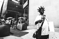 Liberty. (mathiaswasik) Tags: street nyc travel people blackandwhite bw usa newyork liberty