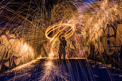 Spinning1 (tarverdiphotography) Tags: street city uk light urban hot night wow photography graffiti photo long exposure steel firespinning steelwool 500px