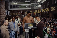 Boxing Weigh-In Nov. 24th 1987. Halifax (Betamax King) Tags: donovan ruddock muhammad ali halifax nova scotia keiths brewery fight 1987 80s canada trevor berbick market forum boxing box match round muhammed