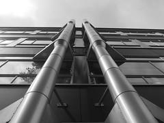 Hoge school Rotterdam (michieljacker) Tags: rotterdam rotjeknor urban bw zw hro building