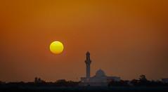 Golden Sunset - Al Rayyan (sunilbhoj) Tags: sunset urban beautiful landscape golden minaret sony mosque qatar alrayyan a7r arrayyan
