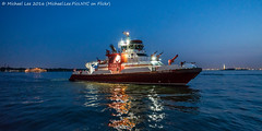Fireboat on the Hudson (DSC07704) (Michael.Lee.Pics.NYC) Tags: newyork night boat twilight fireworks sony hudsonriver bluehour statueofliberty fdny fireboat newyorkharbor a7rm2 zeissloxia21mmf28