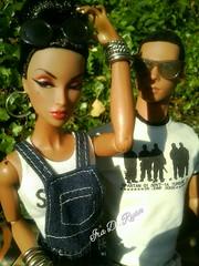 Chlo and Leon (krixxxmonroe) Tags: brown black sexy francisco d monogram ooak handsome leon monroe ira royalty aa styling hypnotic fahion admiration eyan krixx