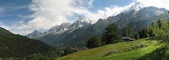 Panorama sur le massif du mont blanc (maxguitare1) Tags: panorama mountain france montagne alpes landscape paisaje montaa paysage montagna montblanc paesaggio
