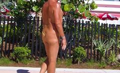 back green asym beachwalk (bmicro2000) Tags: man male public one shaved banana thong hammock gstring asymmetric sided manthong minimalswimwear microkini microbeachwear