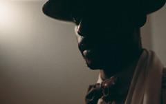 Hustler. (Leon.Antonio.James) Tags: shadow portrait london film analog 35mm canon 50mm kodak grain 35mmfilm analogue nikkor ilovefilm filmisnotdead nikonfphotomic longlivefilm beliveinfilm buyfilmnotmegapixels leonantoniojames dustgrainandscratch