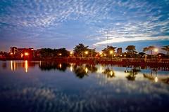 2016-06-08 19.05.34 (pang yu liu) Tags: park light sunset reflection night pond dusk flare 06  pate jun   2016